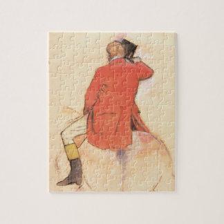 Puzzle Cavalier dans un manteau rouge par Edgar Degas