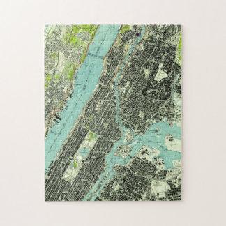 Puzzle Central Park vintage et Bronx NY Map (1947)