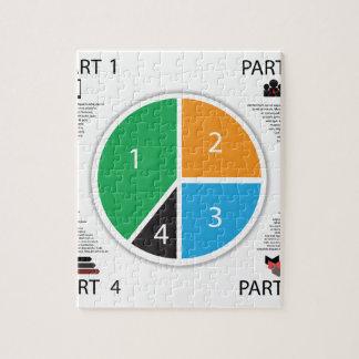 Puzzle Cercle de graphique d'information