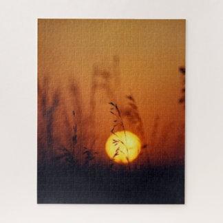 Puzzle Champs de coucher du soleil