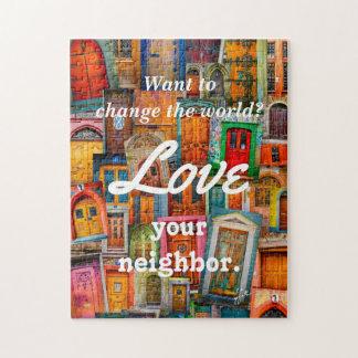 Puzzle Changez l'amour du monde vos portes uniques