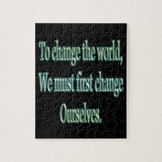 Puzzle Changez le monde