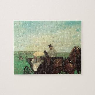 Puzzle Chariot aux courses par Edgar Degas, art vintage