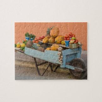 Puzzle Chariot de fruits et légumes, Cuba