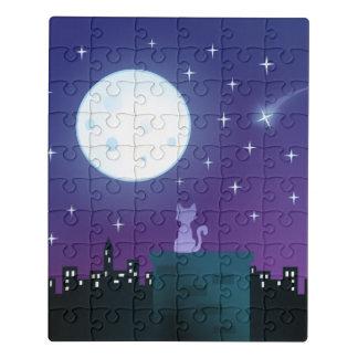 Puzzle Chat sous le clair de lune