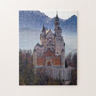 Puzzle Château bavarois Neuschwanstein en hiver