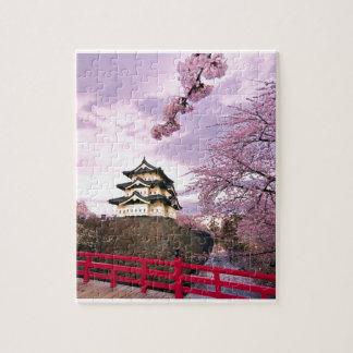 Puzzle Château de Chinois de fleurs de cerisier
