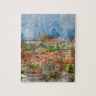 Puzzle Château de Prague dans la République Tchèque