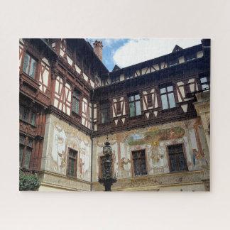 Puzzle Château royal célèbre Peles dans Sinaia Roumanie