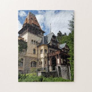 Puzzle Château royal célèbre Peles dans Sinaia, Roumanie