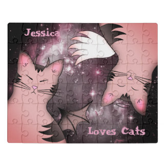 Puzzle Chats roses mignons