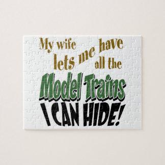Puzzle Chemins de fer modèles