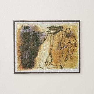 Puzzle Cheval et cavalier par Edgar Degas, art vintage