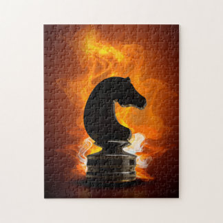 Puzzle Chevalier d'échecs en flammes