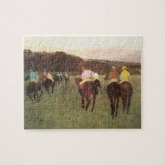 Puzzle Chevaux de course chez Longchamp par Edgar Degas