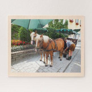Puzzle Chevaux et chariot en Autriche