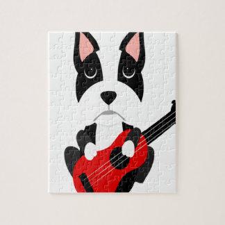 Puzzle Chien de Boston Terrier d'amusement jouant la