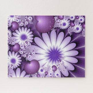 Puzzle Chute dans la fractale de fleurs et de coeurs