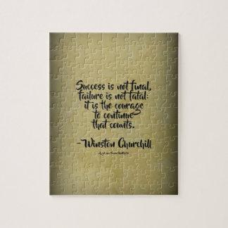 Puzzle Citation de Winston Churchill ; Succès