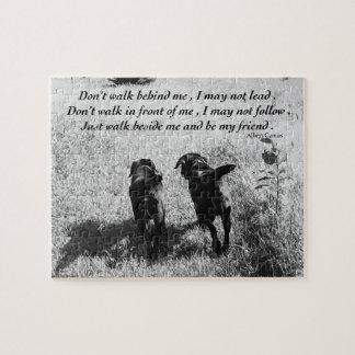 Puzzle Citation noire d'amis de Labrador