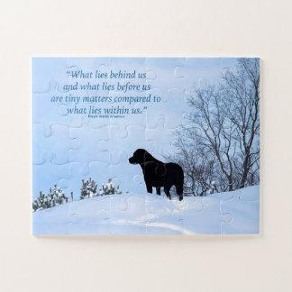 Puzzle Citation noire de Labrador - ce qui se trouve en