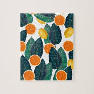 Puzzle Citrons et oranges blancs