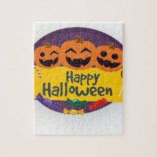 Puzzle Citrouille heureux de Halloween