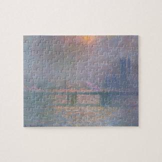 Puzzle Claude Monet | la Tamise avec la croix de Charing