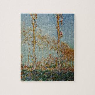 Puzzle Claude Monet - l'illustration de peupliers