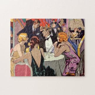Puzzle Cocktail vintage d'art déco à la boîte de nuit