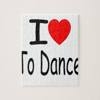 Puzzle coeur i pour danser b