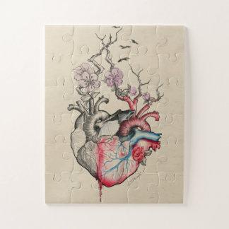 Puzzle Coeurs anatomiques de l'art deux d'amour avec des