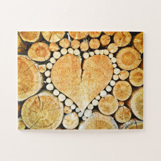 Puzzle Coeurs de rondin