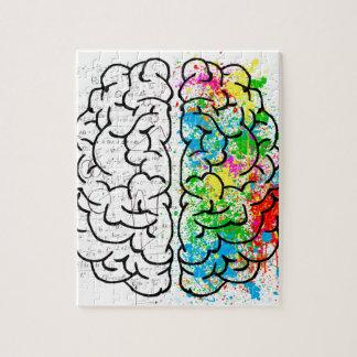 Puzzle coeurs d'idée de psychologie d'esprit de cerveau