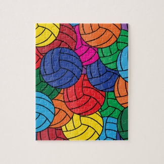 Puzzle Collage coloré de volleyball