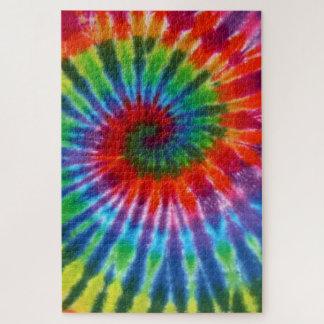 Puzzle Colorant de la cravate 60s de paix de hippie rétro