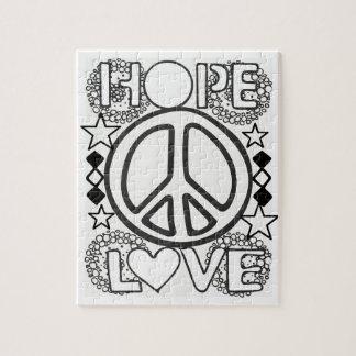 Puzzle Colorez votre propre conception d'espoir d'amour