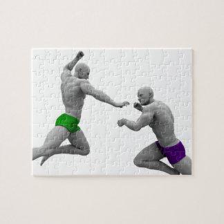Puzzle Concept d'arts martiaux pour le combat et la