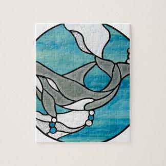 Puzzle Conception d'art en verre souillé de baleine