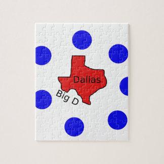 Puzzle Conception de ville de Dallas, le Texas (grand D)