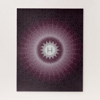 Puzzle Conception géométrique fraîche de monogramme de