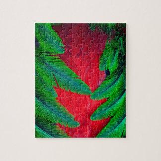 Puzzle Conception resplendissante de plume de quetzal