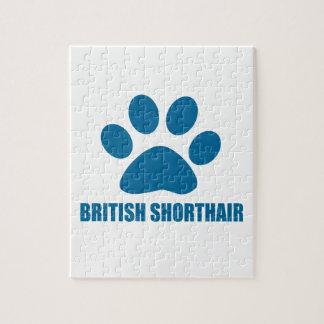 PUZZLE CONCEPTIONS BRITANNIQUES DE CAT DE SHORTHAIR