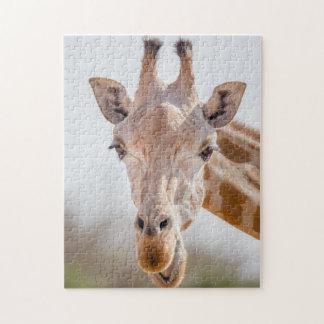 Puzzle Contact visuel avec la girafe
