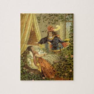 Puzzle Conte de fées victorien vintage, beauté de sommeil