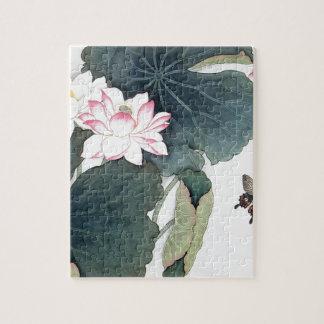 Puzzle Cool asiatique d'art de papillon de fleur de rose
