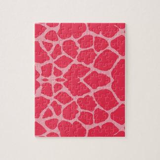 Puzzle Copie magenta de girafe
