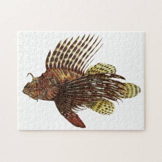 Puzzle Copie vintage de Lionfish rouge