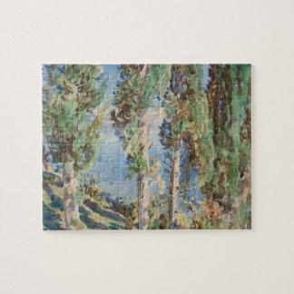 Puzzle Corfou, cyprès par John Singer Sargent