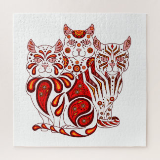 Puzzle Corrections/rayures de conception de chat d'art